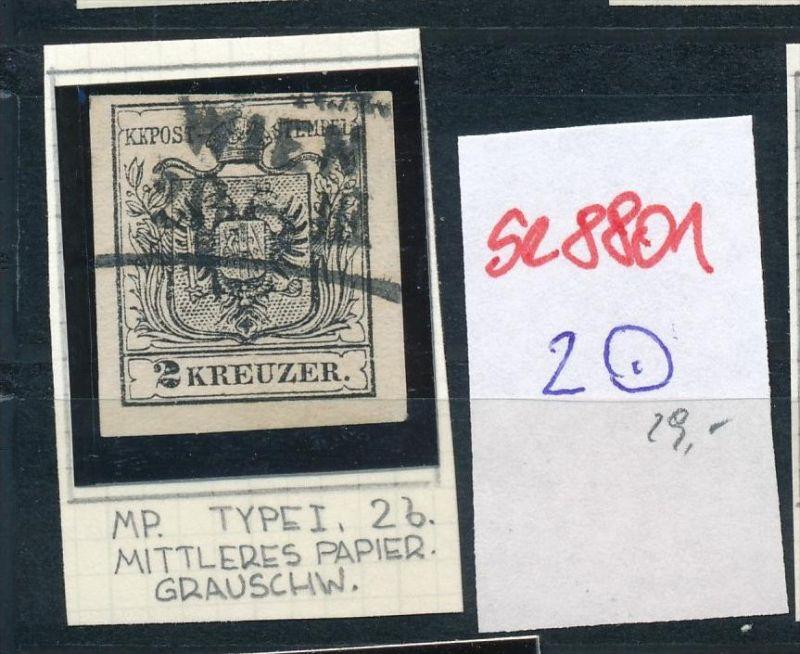 Österreich Nr. 2 Zettel beachten  o  (se8801  ) siehe Bild