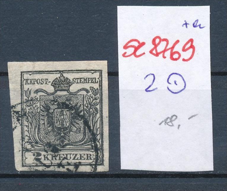 Österreich Nr. 2  ....... o    (se8769  ) siehe Bild