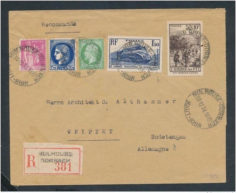 Frankreich R.-Brief -netter Beleg....   ( ze6349  )-siehe scan !!