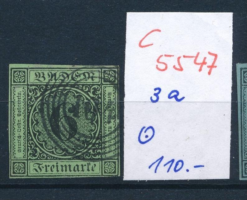Baden  Nr.  3a  o  (c5547  ) -siehe Bild