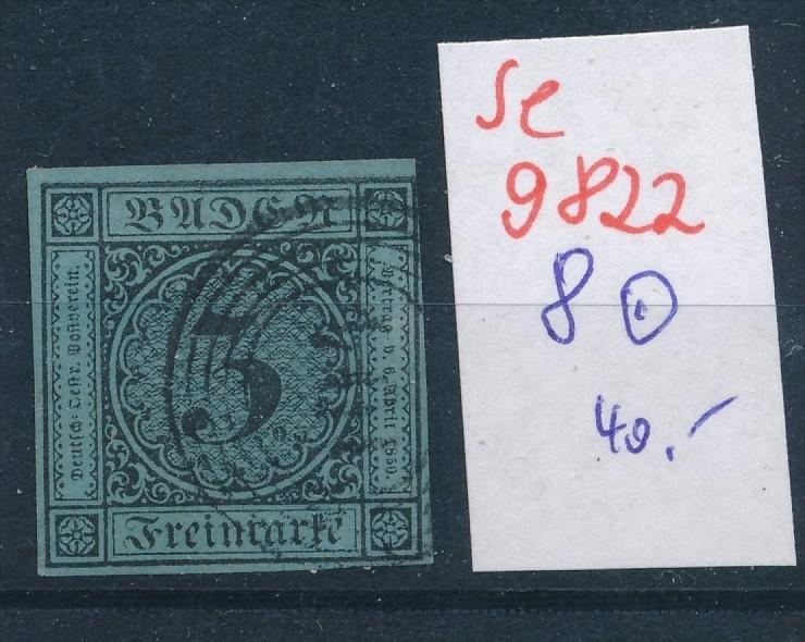 Baden  Nr.  8 o  (se 9822  ) -siehe Bild