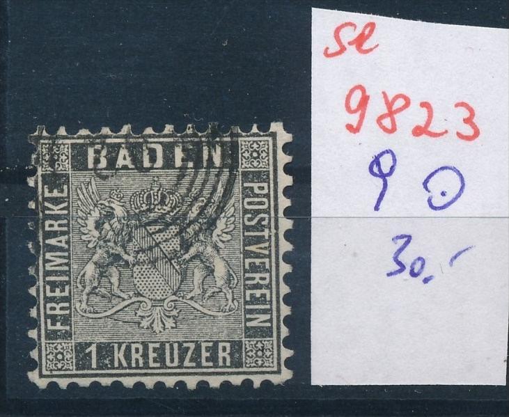 Baden  Nr.  9  o  (se 9823  ) -siehe Bild