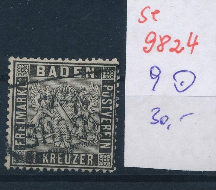 Baden  Nr.  9  o  (se 9824  ) -siehe Bild