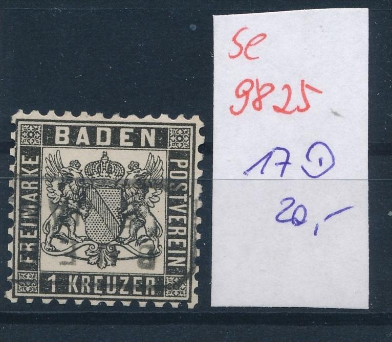 Baden  Nr.  17  o  (se 9825  ) -siehe Bild