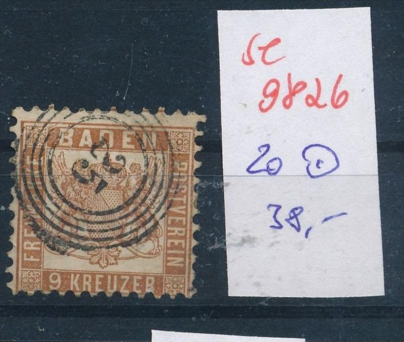 Baden  Nr.  20  o  (se 9826  ) -siehe Bild
