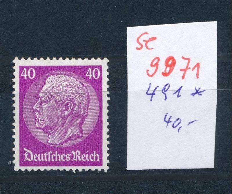 D.-Reich Nr. 491 *    (se 9971  ) -siehe Bild