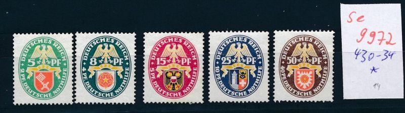 D.-Reich Nr. 430-34  *    (se 9972  ) -siehe Bild