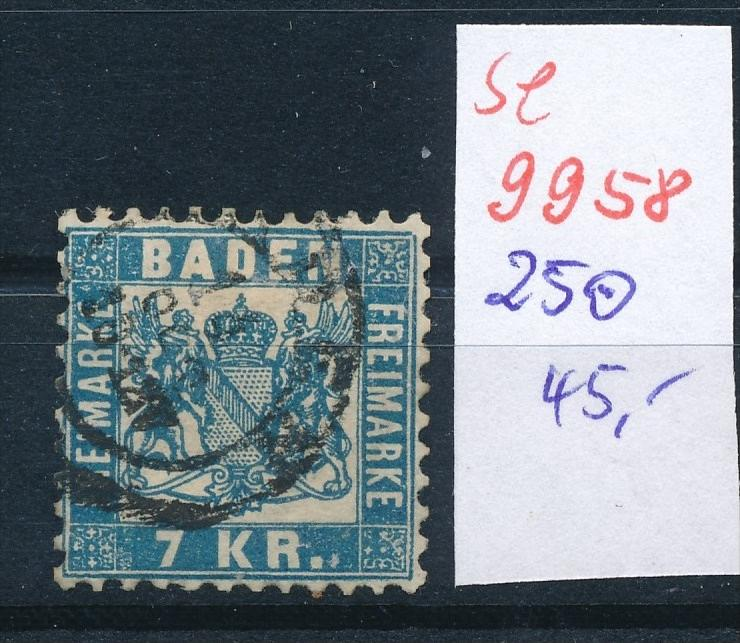 Baden Nr. 25 o    (se 9958  ) -siehe Bild