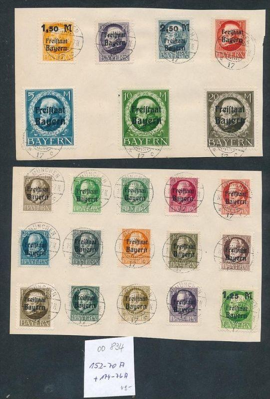 Bayern Nr. 152-70 A....nettes Sammler Blatt zeitgerecht o   (oo834 ) -siehe Bild