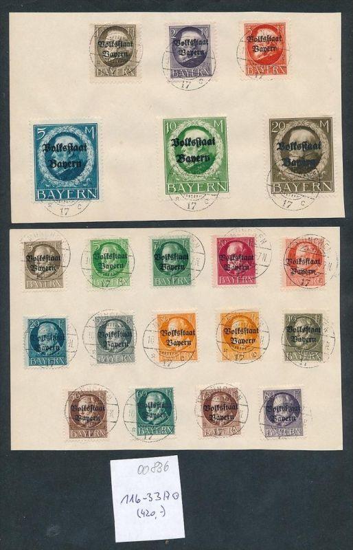 Bayern Nr. 116-33 A....nettes Sammler Blatt zeitgerecht o   (oo836 ) -siehe Bild