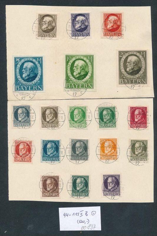 Bayern Nr. 94-118 B II....nettes Sammler Blatt zeitgerecht o   (oo837 ) -siehe Bild