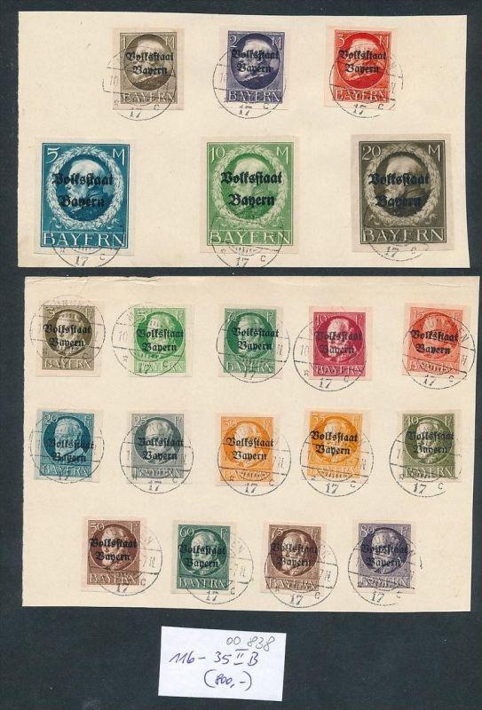 Bayern Nr. 116-35  B II....nettes Sammler Blatt zeitgerecht o   (oo838 ) -siehe Bild