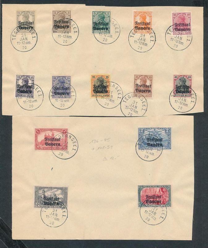 Bayern Nr. 136-45+148-51..nettes Sammler Blatt o  geprüft Infla  (ze7572 ) -siehe Bild