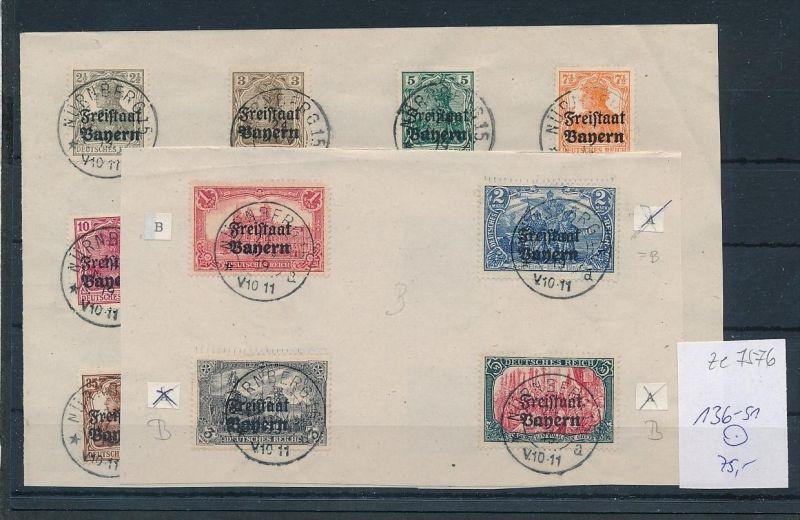 Bayern Nr. 136-51 ..nettes Sammler Blatt o   (ze7576 ) -siehe Bild