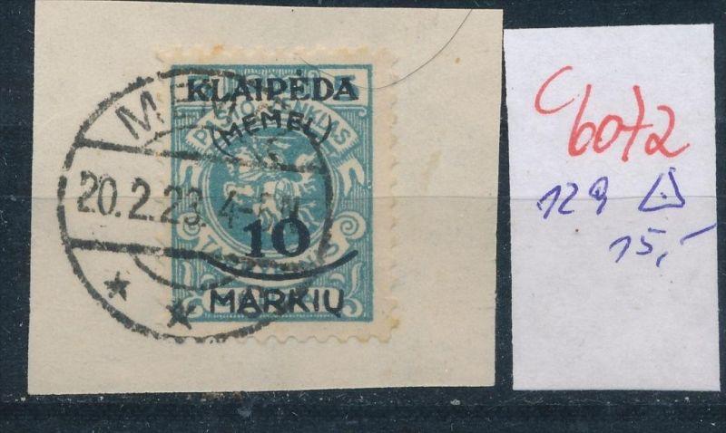 Memel Nr. 129 o    (c  6072 ) -siehe Bild