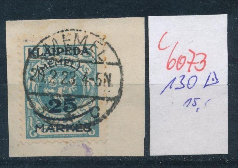 Memel Nr. 130 o    (c  6073 ) -siehe Bild