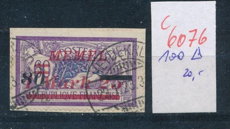 Memel Nr. 100  o   (c  6076 ) -siehe Bild
