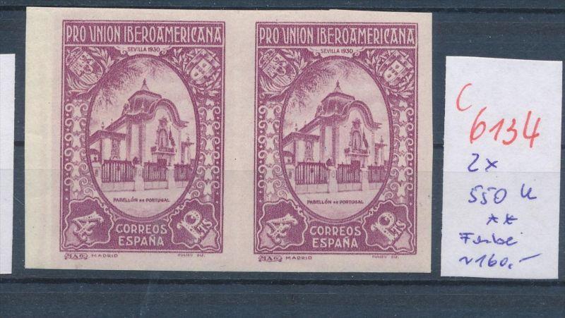 Spanien Nr. 2x 550 U- Essay ? .. **(c 6134 ) -siehe Bild