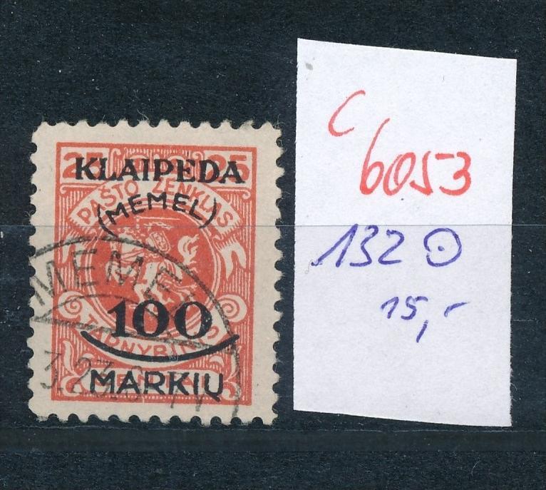Memel Nr.  132 o .(c6053) -siehe Bild