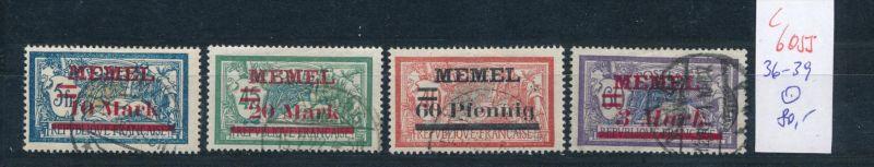 Memel Nr.  36-9  o .(c6055 ) -siehe Bild