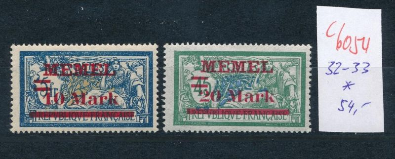 Memel Nr.  32-33  *.(c6054 ) -siehe Bild