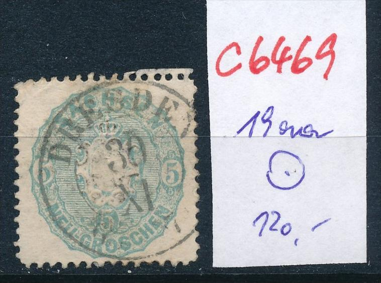 Sachsen Nr. 19 aa  o  (c6469  ) siehe scan