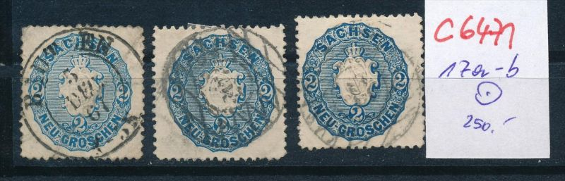 Sachsen Nr. 117 a-b   o  (c6471  ) siehe scan