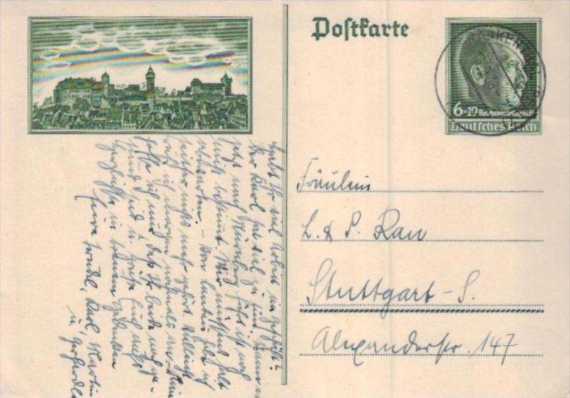 D.-Reich Ganzsache  ( ka  1907 ) siehe scan !