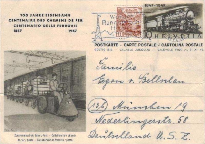 Schweiz Ganzsachen  -Karte  ( ka  1927 ) siehe scan !