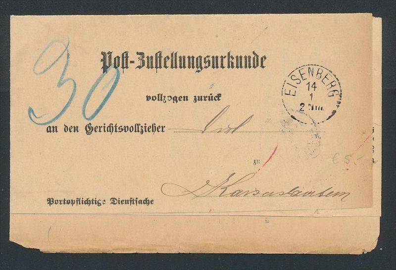 DR.-Zustell Urkunde  (oo1081  ) -siehe Bild