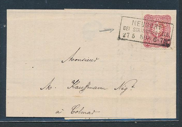 DR.-Beleg- Neudorf Elsass   (oo1156  ) -siehe Bild