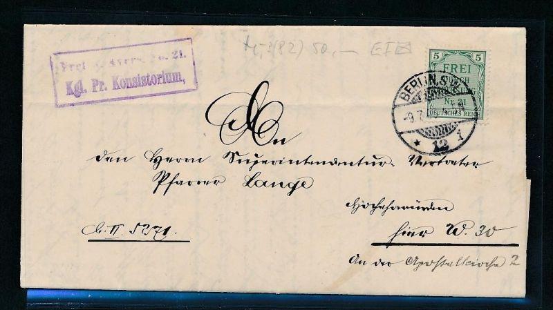 D.-Reich Beleg  Dienst   (t9454  ) -siehe Bild