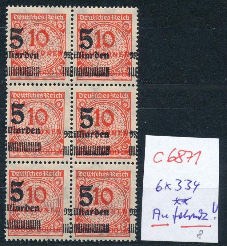 D.-Reich Nr. 6x 334 Aufdruck dekorativ  **    (c6871 ) siehe scan