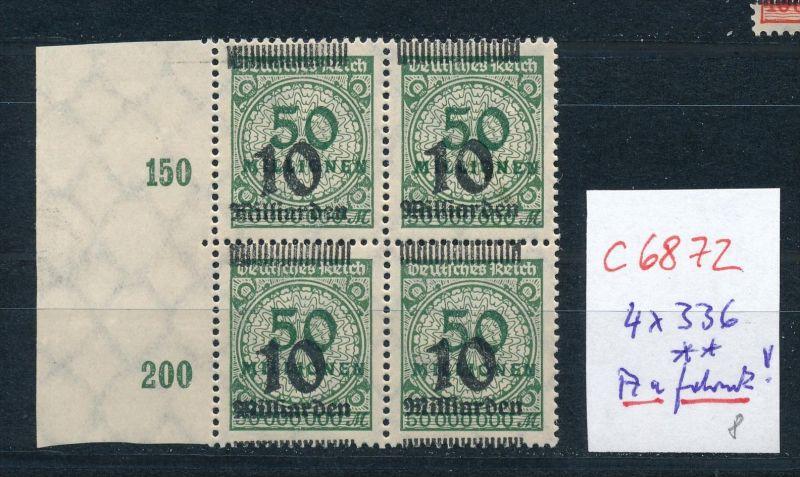 D.-Reich Nr. 4x336  Aufdruck dekorativ  **    (c6872 ) siehe scan