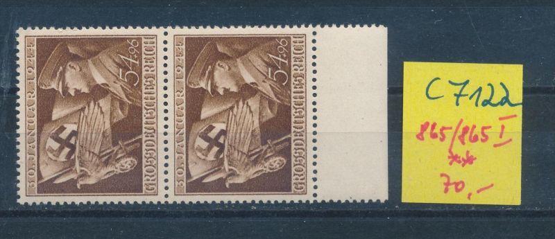 D.-Reich Nr. 865 I   **(c7122 ) siehe scan
