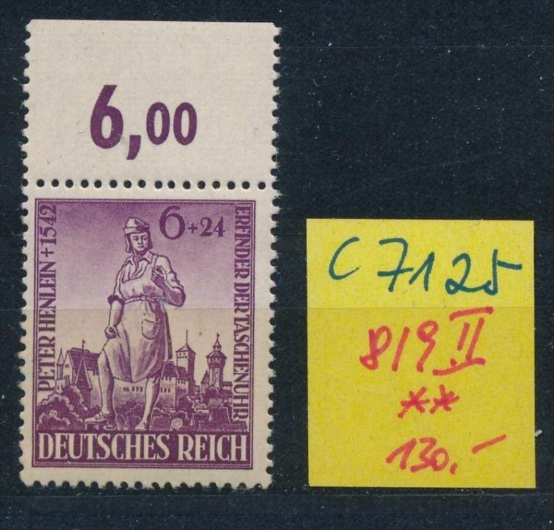 D.-Reich Nr. 819 II  **(c7125 ) siehe scan