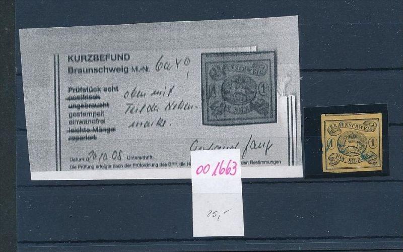 Braunschweig Nr. 6aY   o (oo1663 ) siehe scan