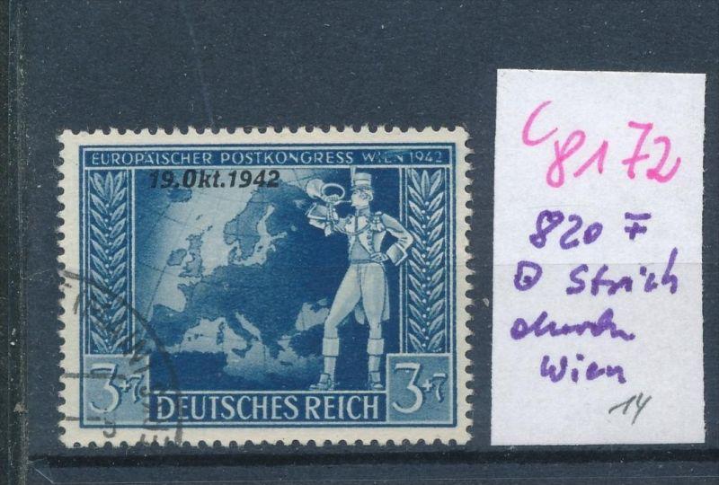 D.-Reich  820 F   o(c8172  ) siehe scan
