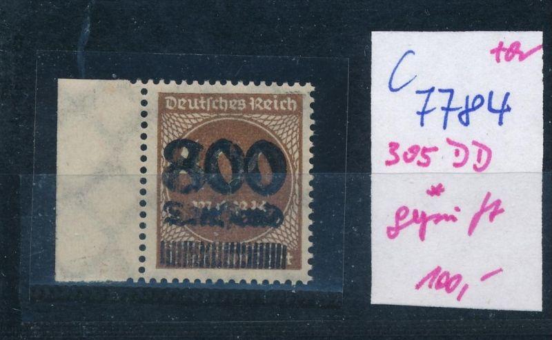 D.-Reich Nr. 305 DD  *  (c7784  ) siehe scan