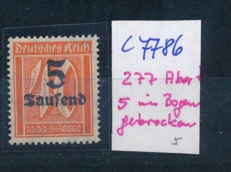 D.-Reich Nr. 277  F  **  (c7786  ) siehe scan
