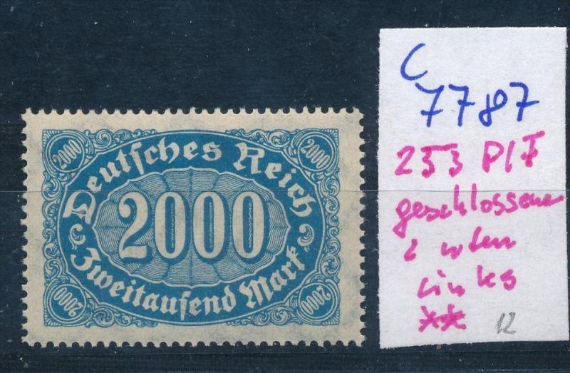 D.-Reich Nr. 253  F  **  (c7787  ) siehe scan