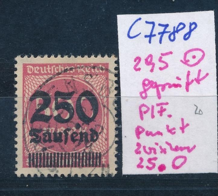 D.-Reich Nr. 295  F  o  (c7788  ) siehe scan