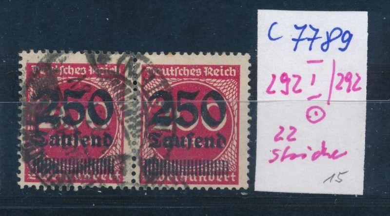 D.-Reich Nr. 292 I/292  o  (c7789  ) siehe scan
