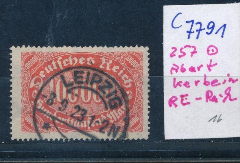 D.-Reich Nr. 257  F o  (c7791  ) siehe scan