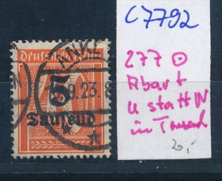 D.-Reich Nr. 277  F o  (c7792  ) siehe scan