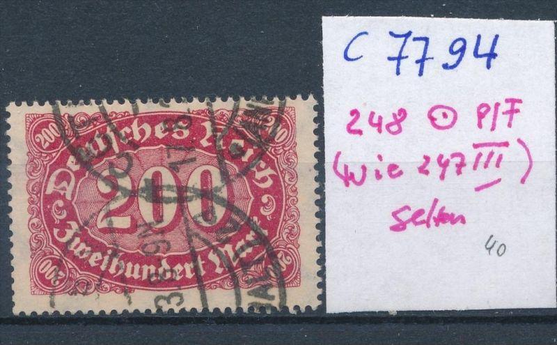 D.-Reich Nr. 248  F o  (c7794  ) siehe scan