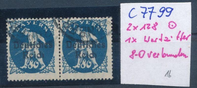 D.-Reich Nr. 2x128  F o  (c7799  ) siehe scan