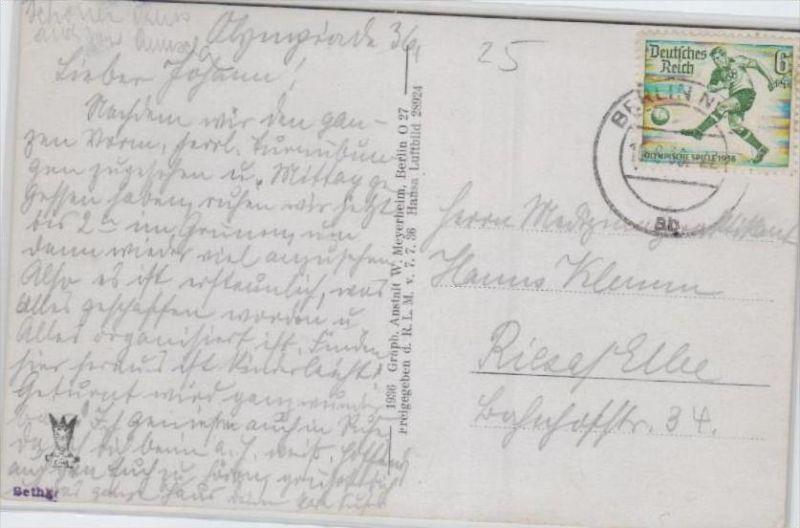 Thema Olypia 1936 Karte     (ka2483  ) siehe scan