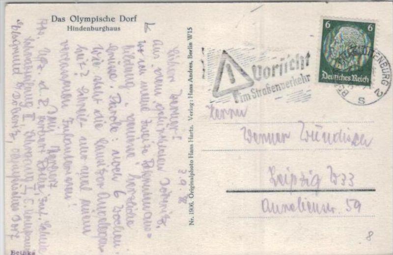 Thema Olypia 1936 Karte      (ka2481  ) siehe scan