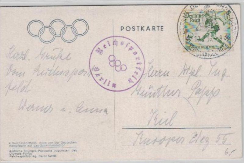 Thema Olypia 1936 Karte     (ka2489  ) siehe scan